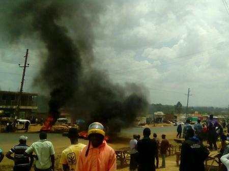 Happening Now: Demonstrations in Matunda Over Rape of A Boy by An Alleged Police Officer.