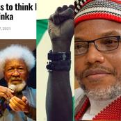 Nnamdi Kanu Reveals What Soyinka Said About Those Thinking