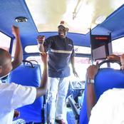 Deputy President William Ruto Rides in a School Bus At Narok (Video)