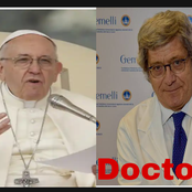 After Pope Francis former doctor died of coronavirus, see his new personal doctor(photos)