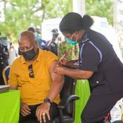 John Mahama and Wife Lordina Mahama takes Covid 19 Vaccine - See Pictures.