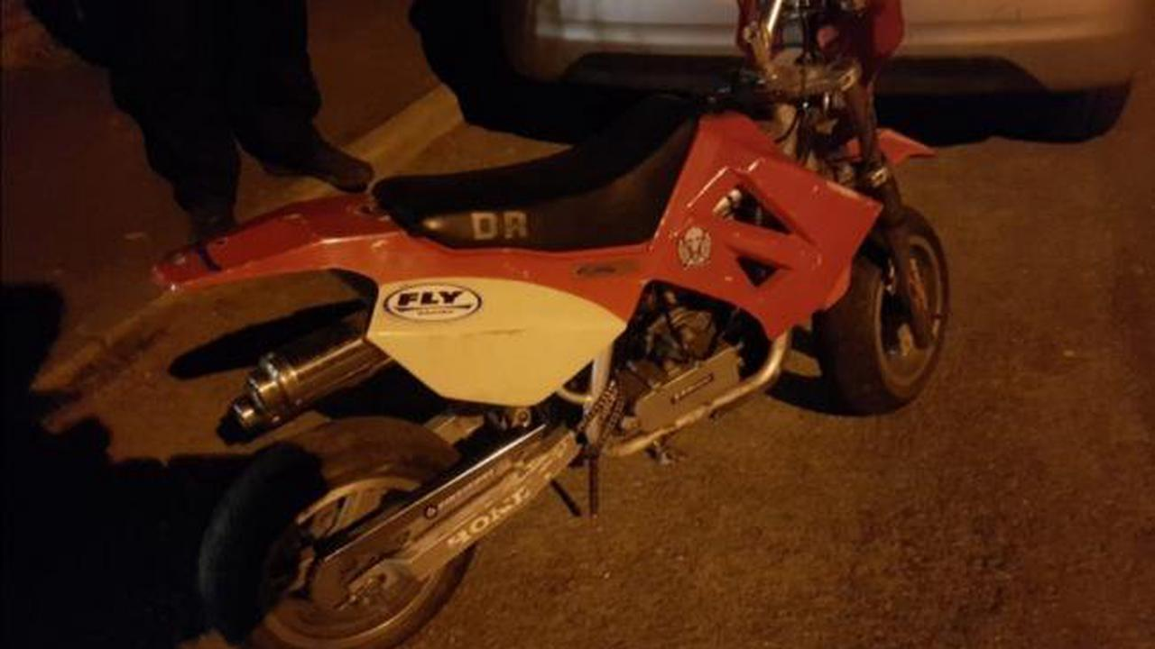 Officers recover motorbike after it was 'fished out' of 'hiding spot'