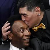 Pelé rend hommage à Diego Maradona :