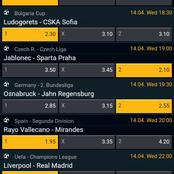 Best 14th April Matches Analysis With 100% Boosted Odds And Included In Jackpot