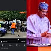 Video: The Moment Buhari Supporters Were Chased Away From The Protest Ground In London