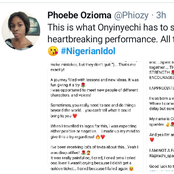 Lady who resigned from her workplace for Nigerian Idol finally released a statement