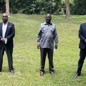 President Uhuru's Brother Muhoho, Gideon Moi Meets Raila Odinga in His Karen Home