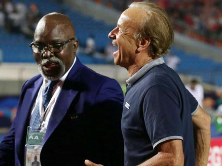 NFF president speaks on Gernot Rohr's future as Super Eagles coach. (See details)