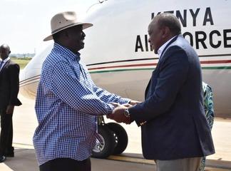 Raila Odinga Jets Back into The Country Unnoticed