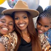 Latest Adorable Photos of Grace Msalame With Her Twin Daughters
