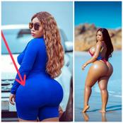 Hot: Moesha Boduong Thrills Her Fans Once Again With Hot Photos Showing Her Giantic Back Side