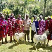 Baba Gladly Receives A Gift From A Delegation From Narok