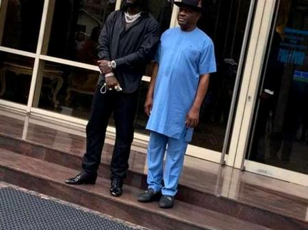 Nigerians Slam Burna Boy's Dress Sense As Governor Nyesom Wike Hosts The Grammy Award Winner