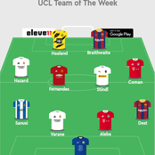 UEFA Champions League Combined (XI) Team Of The Week For Match-Day Four