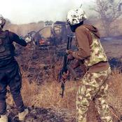 Nigerian Soldiers Defeated Boko Haram Again In Borno State, Check Pictures