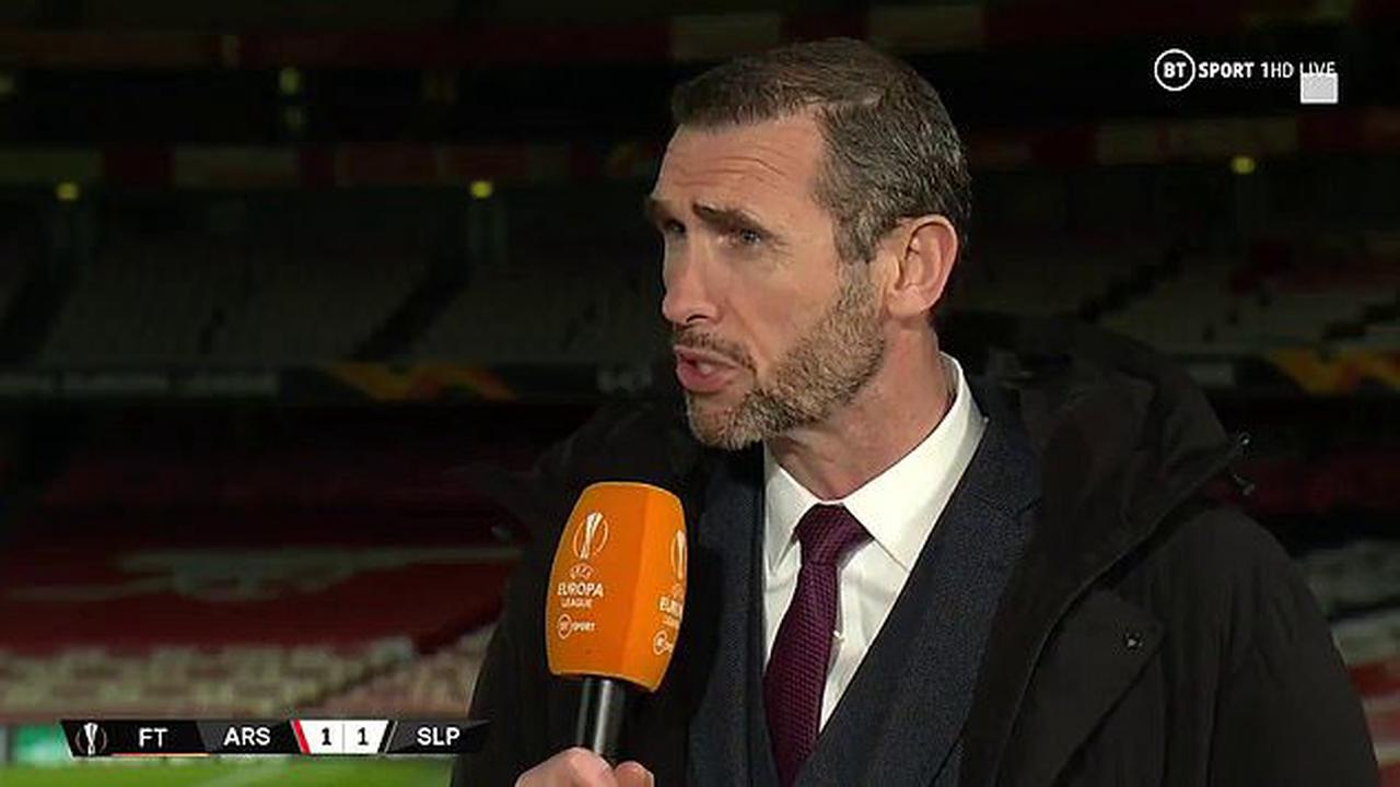 Arsenal 'need someone to punch them', claims Martin Keown as he slams their 'sloppy mistakes'... before Karen Carney says Mikel Arteta 'looks lost' after Europa League draw against Slavia Prague