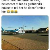 SAPS Pilot Fired After Landing Helicopter Next To His Ex Girlfriend's Home.