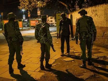 Kenyans Reacts After A Man Was Caught By Three Armed Police Officers Past Curfew Hours In Nairobi