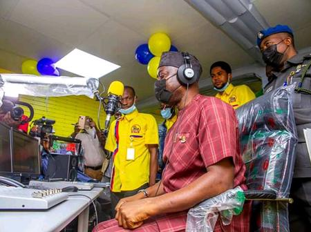 Photos of Seyi Makinde at the opening ceremony of new radio station, Agidigbo FM in Ibadan