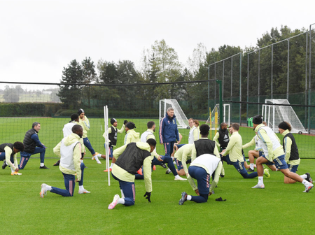 Photos: Arsenal Stars in training ahead of tie against Sheffield United on Sunday
