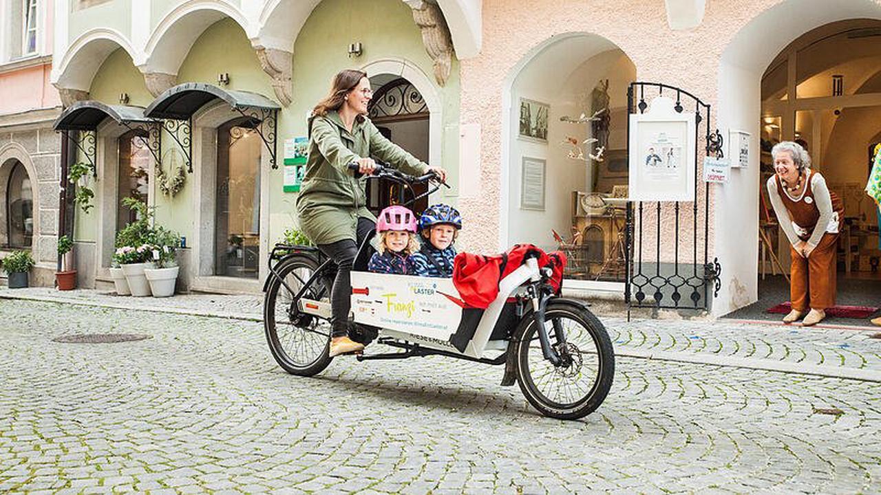 Mit dem E-Lastenrad zu Kunden und Kindergarten