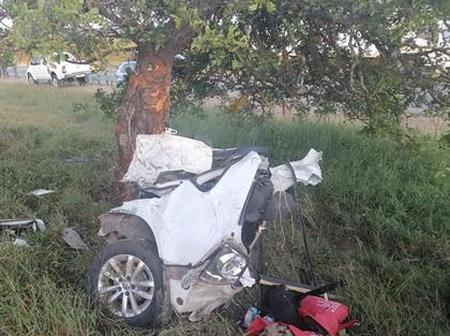 VW Polo Ripped Apart Into Pieces In Limpopo During Easter Weekend.