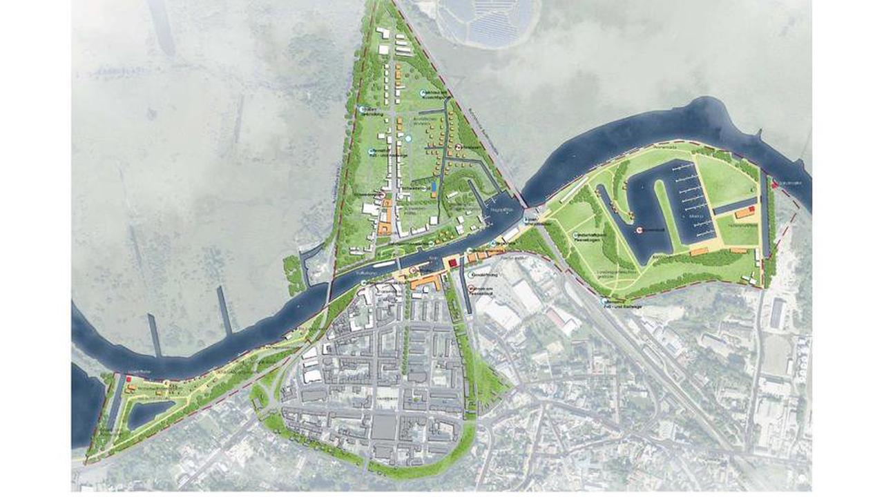 Masterplan-Entwurf: Anklamer Peeneufer könnte Lagunenstadt bekommen