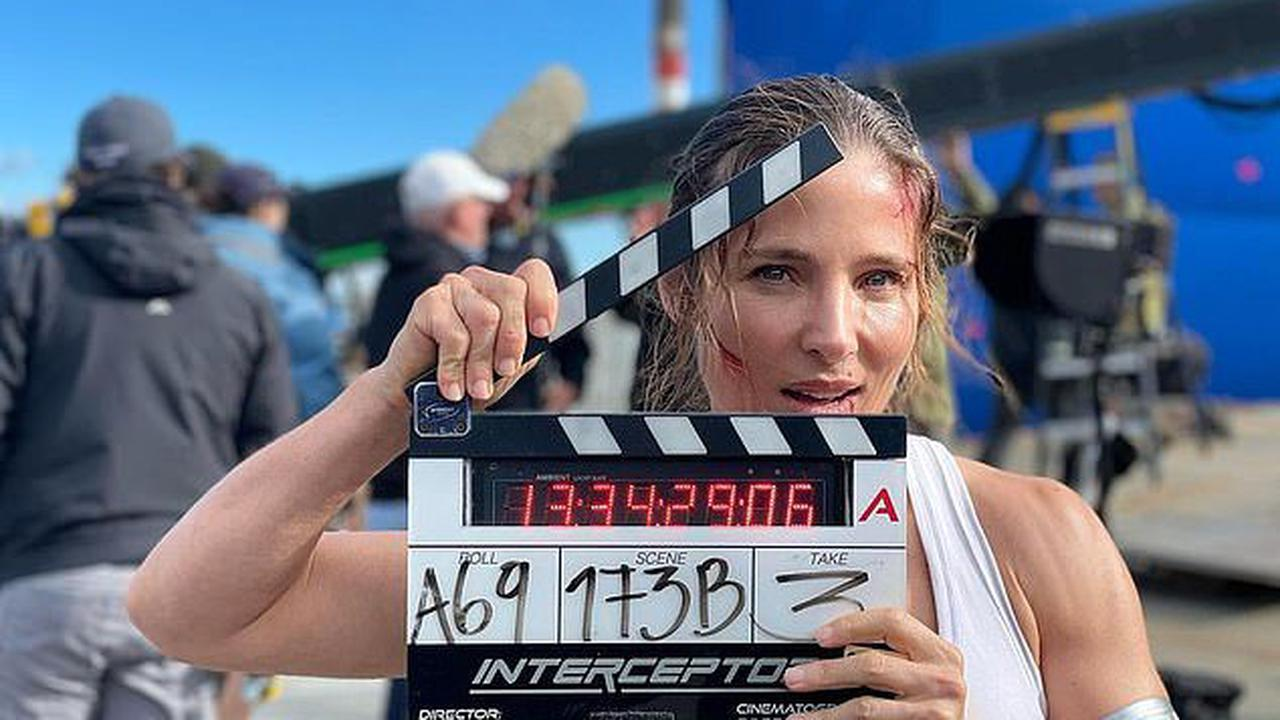 Elsa Pataky wraps filming her Netflix action flick Interceptor as she shares behind-the-scenes photos of herself appearing bloodied and bruised