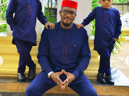 Junior Pope Shares Cute Throwback Photos Of His Sons