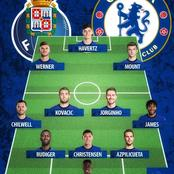 Chelsea's Fierce Starting 11 That Will Easily Eliminate Porto Out Of The Champions League