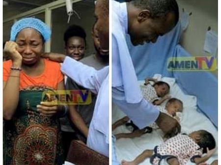 A Mother Of Quadruplet Breaks Down In Tears As Rev Fr Ejike Mbaka Grants Her An Unexpected Surprise