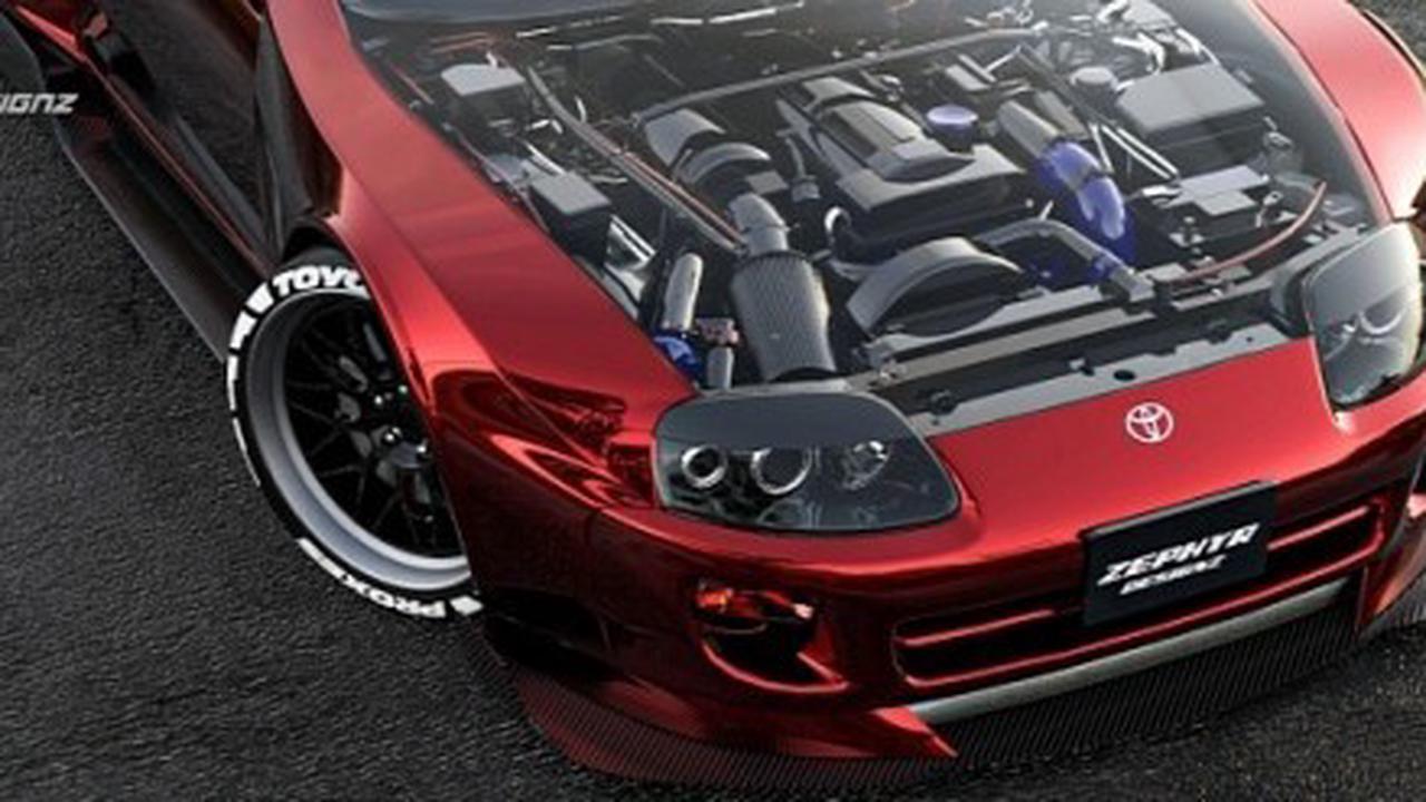 "Toyota Supra ""See-Through"" Has Transparent Hood in Slick Rendering"