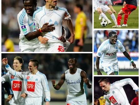 Throwback Photos Of Nasri, Taye Taiwo And Ribery At Marseille