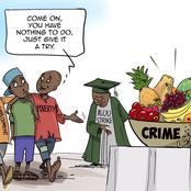 A Very Hard Test To Pass In This Country Right Now-  Reactions To Bulama's Latest Cartoon