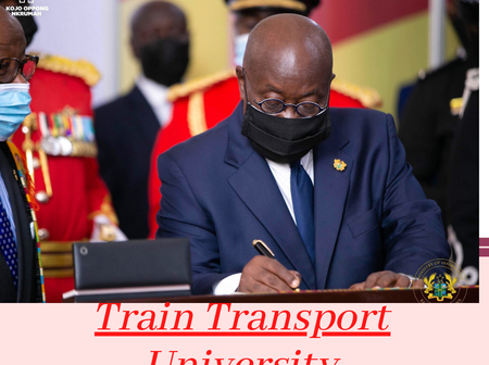 Train Transport University in Ghana, Watch out for Forms.