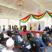 See the Plush Marquee Tent Nana Addo Used today! He has Transformed Ghana Indeed!