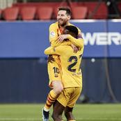 Messi assisted a young star in scoring his dream goal.