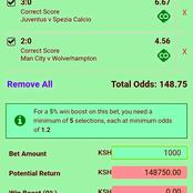 Best Of Tonight Sure Six Correct Score (CS) Bets That You are Assured of Winning Huge Cash
