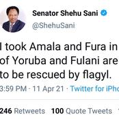 """In The Spirit of Yoruba and Fulani Are One, I Took Amala and Fura - Sen Shehu Sani"