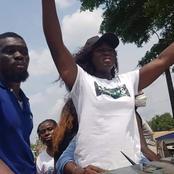 Législatives à Agboville : Les supporters de Fleur Aké M'Bo crient victoire et envahissent les rues