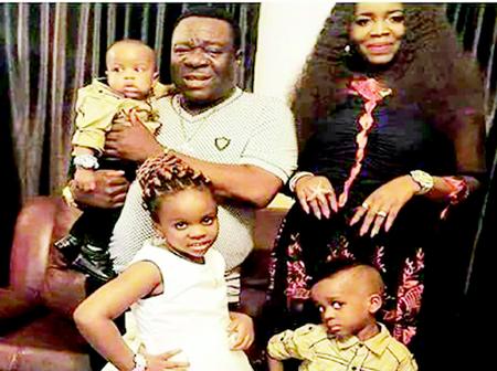 Beautiful Photos of John Okafor (Mr. Ibu) And His Family