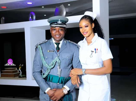 Check Out The Beautiful Pre-Wedding PHOTOS of A Nigerian Customs Officer and A Nurse