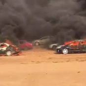 #EndSARS:  Thugs Burn Protesters Cars In Abuja