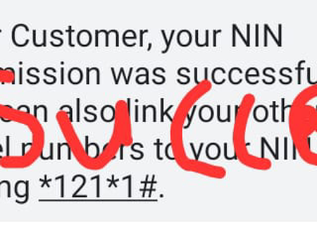 NIN News: Congratulations If You Received This SMS From Airtel, It Means Your NIN Has Been Accepted