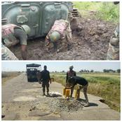 Check Out Photos Of How Bad Roads Are Hampering Military's Fight Against Boko Haram Terrorists