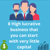 8 high lucrative businesses you can start with very little capital to earn huge