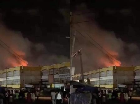 Very sad: Kaneshie market on fire.