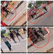 Area Boys Faceoff With Police With Guns In Enugu Amidst Struggle For COVID-19 Palliatives (Video)