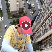 Video: See The Risky Job This Chinese Lady Had To Do In Order To Put Food On The Table