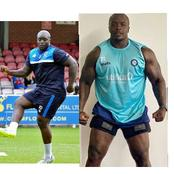 Meet This 38-Year-Old Guy Who Is A Nigerian Footballer But Looks Like A Bodybuilder, See His Photos
